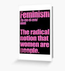 Feminism Definition Greeting Card