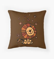 Cute Cartoon Lion Dream by Cheerful Madness!! Throw Pillow