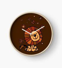 Cute Cartoon Lion Dream by Cheerful Madness!! Clock