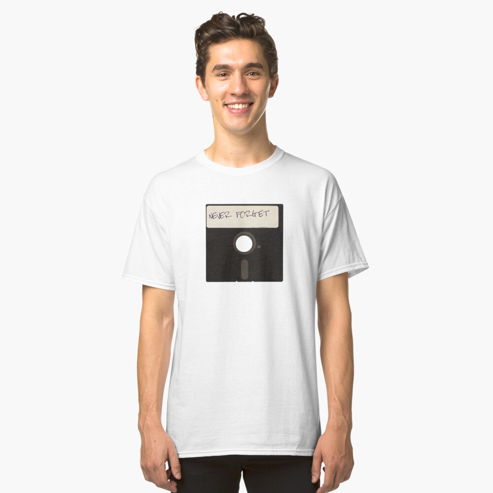 Never Forget Computer Floppy Disks Classic T-Shirt Front