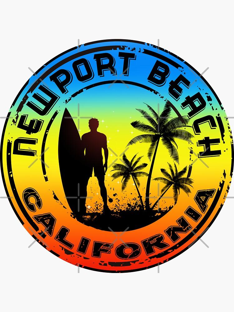 Surfer NEWPORT BEACH Kalifornien Surfen Surfbrett Ocean Beach Vacation von MyHandmadeSigns
