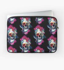 Floral Skull Blue Laptop Sleeve