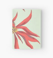 Red Flowers Hardcover Journal