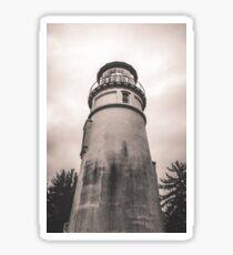 Ocean Beach Black and White Light House - Umqua Light House Sticker