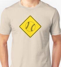 Baseball or Softball - Traffic Sign - Diamond T-Shirt