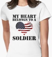 My Heart Belongs To A Soldier Women's Fitted T-Shirt
