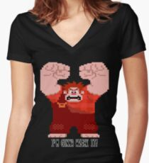Wreck-It Ralph - Gonna Wreck It! Women's Fitted V-Neck T-Shirt