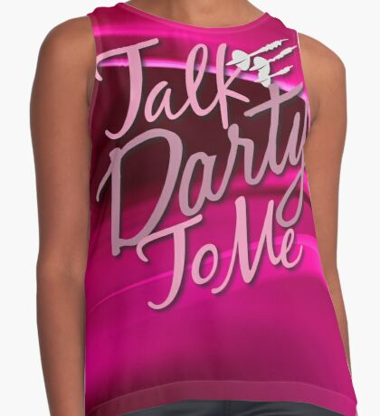 Talk Darty To Me Ladies Darts Shirt Contrast Tank