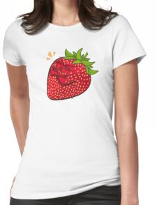 Grumpy Strawberry Womens Fitted T-Shirt