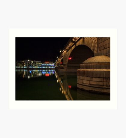 Reflections At London Bridge Art Print