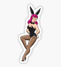 American Traditional Sexy Waitress Bunny Sticker