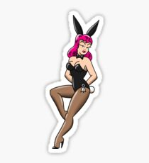 American Traditional Sexy Waitress Bunny Sticker