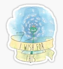 I Wish For This - Maison Collins Quote Sticker
