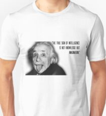 Einstein and imagination Unisex T-Shirt