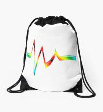 Resistor in Rainbow 2 Drawstring Bag