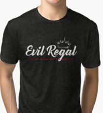 Evil Regal - White Tri-blend T-Shirt