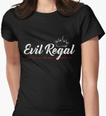 Evil Regal - White Women's Fitted T-Shirt