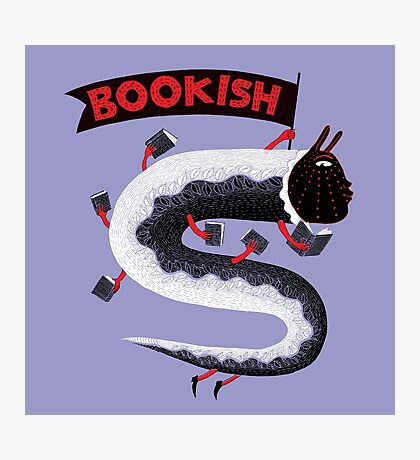 Bookish Dragon Photographic Print