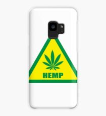 Caution Hemp Marijuana sign Case/Skin for Samsung Galaxy