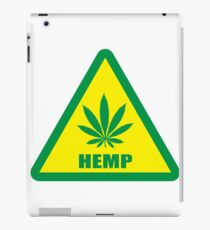 Caution Hemp Marijuana sign iPad Case/Skin