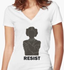 Princess Leia - Resist Women's Fitted V-Neck T-Shirt