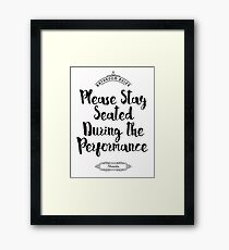 Please Remain Seated Bathroom Sign Framed Print