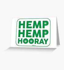 Hemp Hemp Hooray Green White Greeting Card
