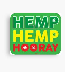 Hemp Hemp Hooray Rasta Rastafarian Green Canvas Print