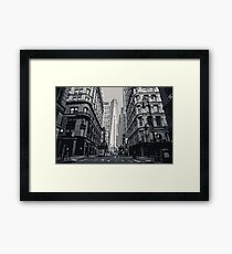 A Grey City View Framed Print