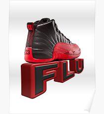 flu game jordans Poster