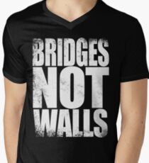 Bridges NOT Walls Men's V-Neck T-Shirt