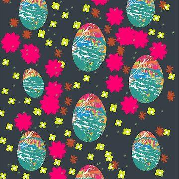 Dragon eggs pop art by Elbas