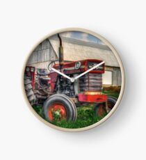 Farm Scene Painting Clock