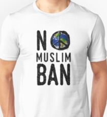 "Anti-Trump Million Woman March Resist - ""No Islam Ban"" World peace  T-Shirt"