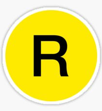 R Train Official Logo Sticker