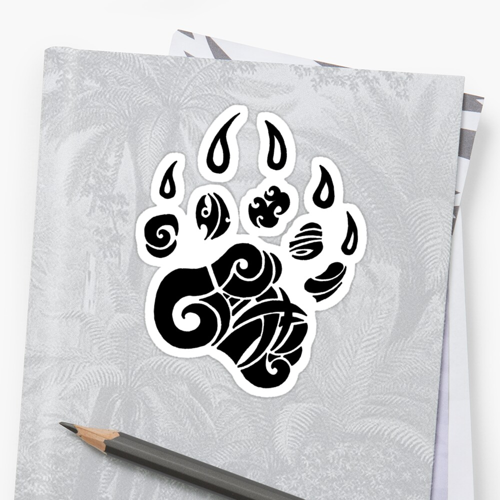Tribal Bear Claw Stickers By Jacob Peake Redbubble