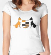 Basenji (Coat of Arms) Women's Fitted Scoop T-Shirt