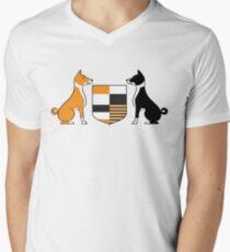 Basenji (Coat of Arms) Mens V-Neck T-Shirt
