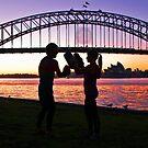 Shadow Boxing at Sunrise by TonyCrehan