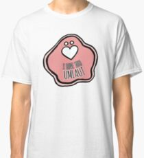 'I Love You Umlaut' Valentine's Pattern - Pretty in Pink Classic T-Shirt
