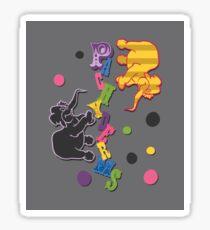 Pachyderms! Sticker