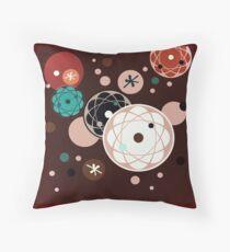 Atomic Chocolate Throw Pillow