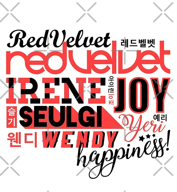 RED VELVET Font Collage by skeletonvenus