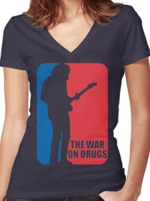 The War On Drugs - Major League Shirt Women's Fitted V-Neck T-Shirt
