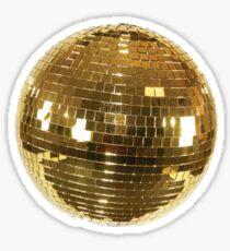 Gold Disco ball Sticker