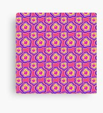 'I Love You Umlaut' Valentine's Pattern - Neon & Bright Canvas Print