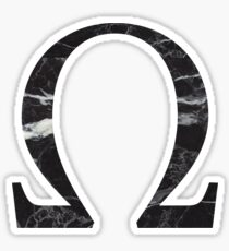 black marble omega / // / /  Sticker