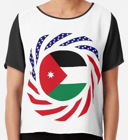 Jordani American Multinational Patriot Flag Series Chiffon Top