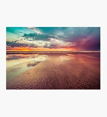 Ocean Sea Beach Water Clouds at Sunset - Hwy 101 Pacific Coast Highway Photographic Print