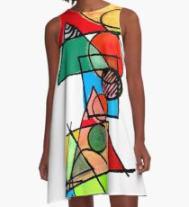 Colours and Shapes A-Line Dress